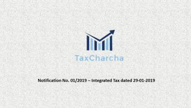 Photo of Notification No. 01/2019-Integrated Tax,dt. 29-01-2019 – Seeks to bring into force the IGST (Amendment) Act, 2018