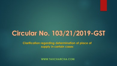 Photo of Circular No. 103/22/2019-GST-Clarification regarding determination of place of supply in certain cases