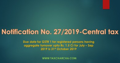 Notification no. 27/2019-central tax