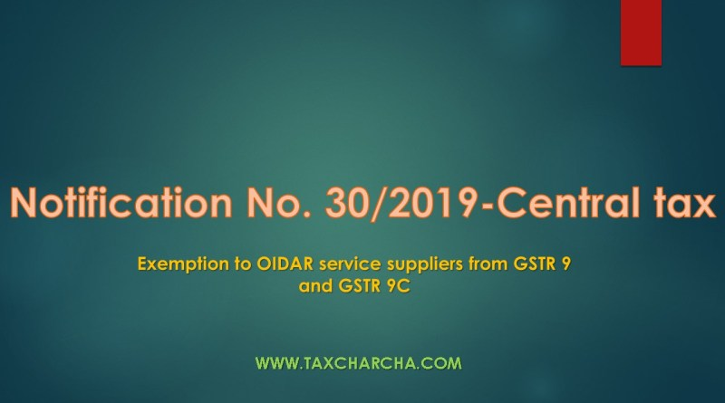 notification no. 30/2019-central tax
