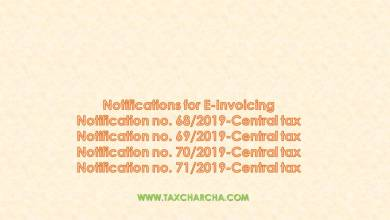 Photo of Notications for applicability of E-invoicing