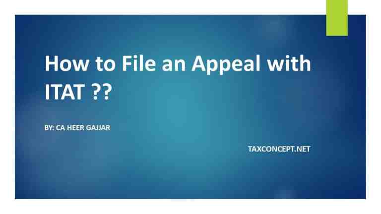 HOW TO FILE AN APPEAL WITH ITAT ??