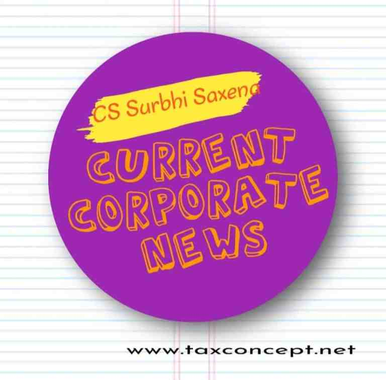 Current and Corporate Affairs as on 23 October 2020