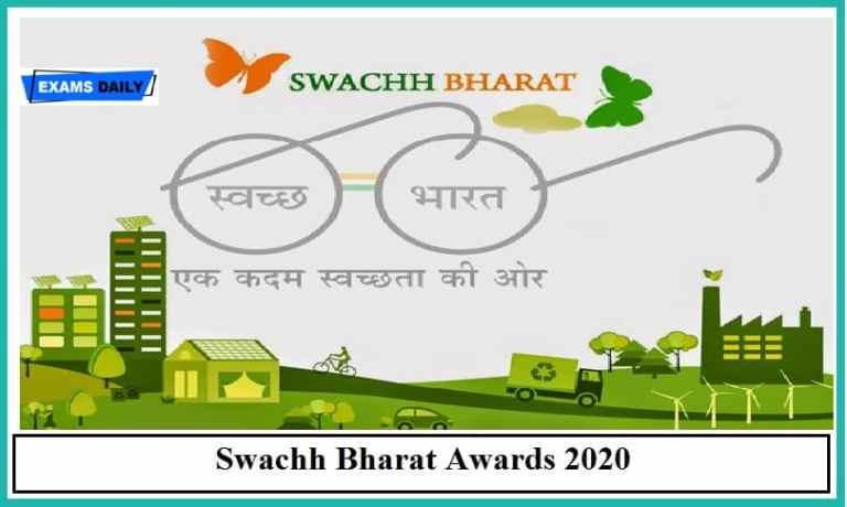 Jal Shakti Minister gives away Swachh Bharat Awards2020