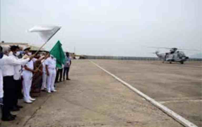 Indian Navy Helicopters Undertake Aerial Seeding at Visakhapatnam