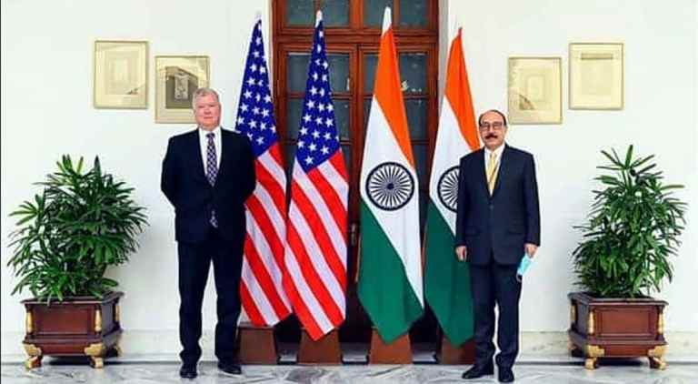 Foreign Secretary Harsh Vardhan Shringla holds bilateral consultations with US Deputy Secy of State Stephen Biegun
