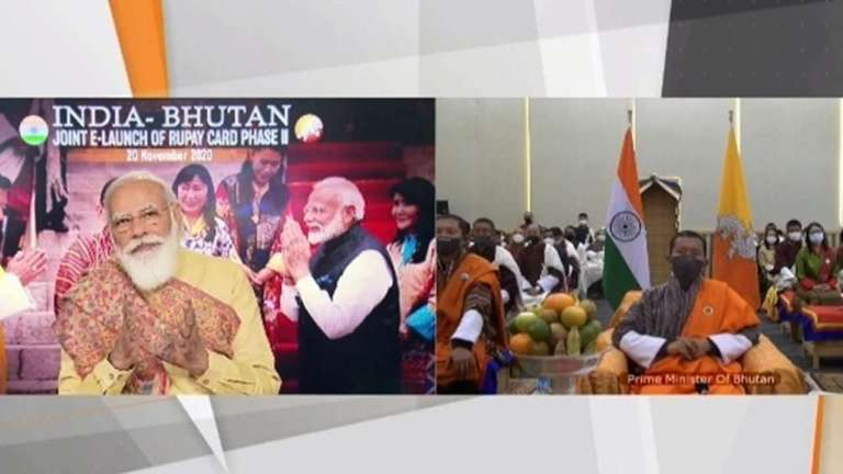PM Modi and his Bhutanese counterpart jointly launched e-RuPay card Phase-II