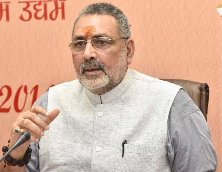 Gujarat – Union Minister Giriraj Singh visits Anand district in Gujarat