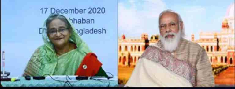 India and Bangladesh sign 7 MoUs, agreements during virtual summit