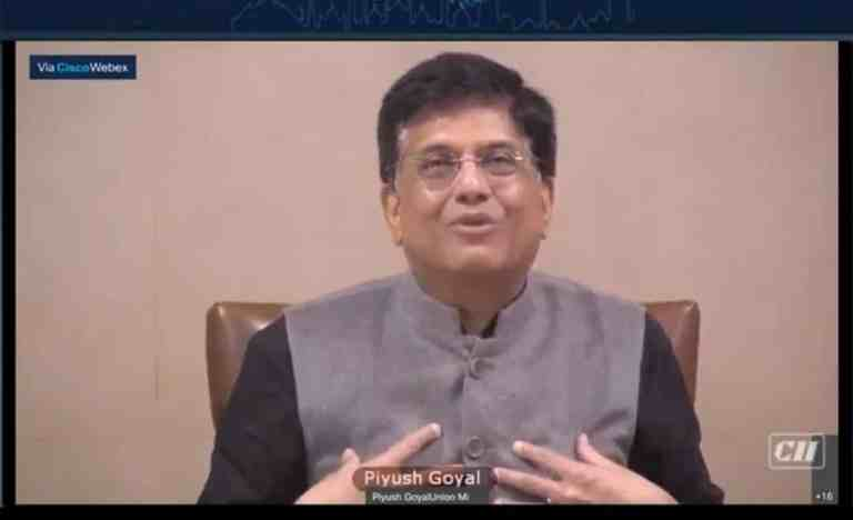 Union Commerce Minister Piyush Goyal addresses CII's Session