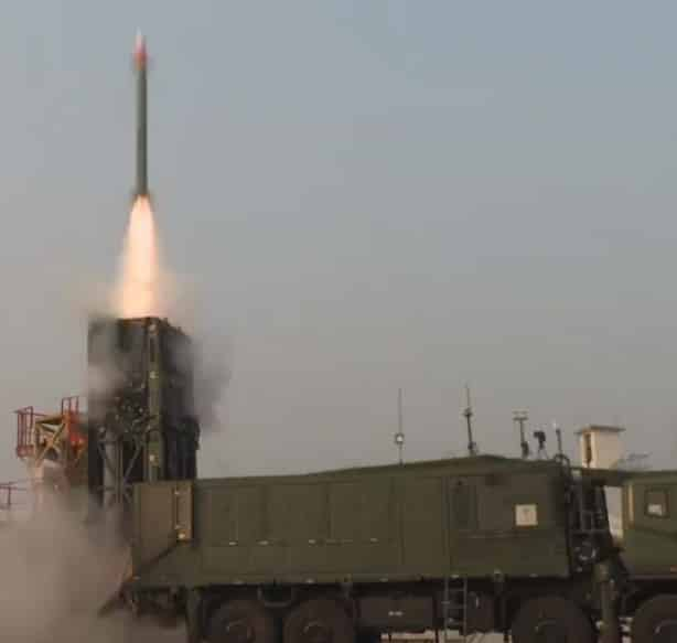 DRDO conducts successful trial of Medium Range Surface to Air MR-SAM missile