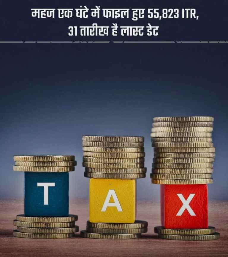 55,823 ITR files in just one hour. When are you filing your income tax return?