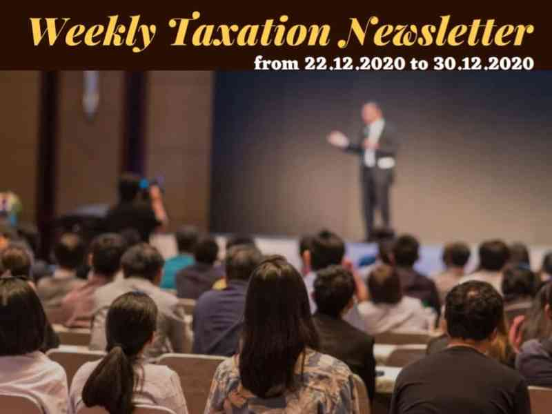 Weekly Taxation Newsletter - Business Concept Magazine