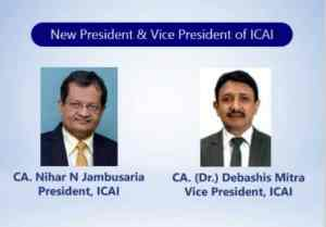 NEW PRESIDENT & VICE PRESIDENT OF ICAI