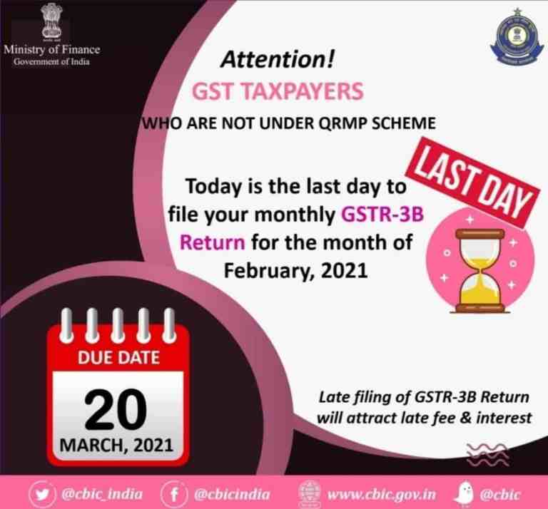 Attention GST Taxpayers who are not under QRMP Scheme