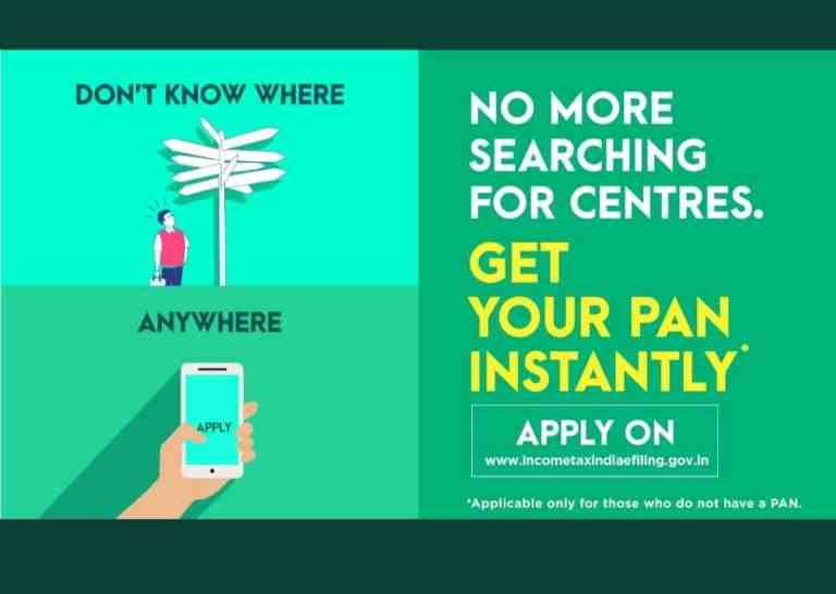 Now apply from anywhere, anytime! generate your ePAN within minutes