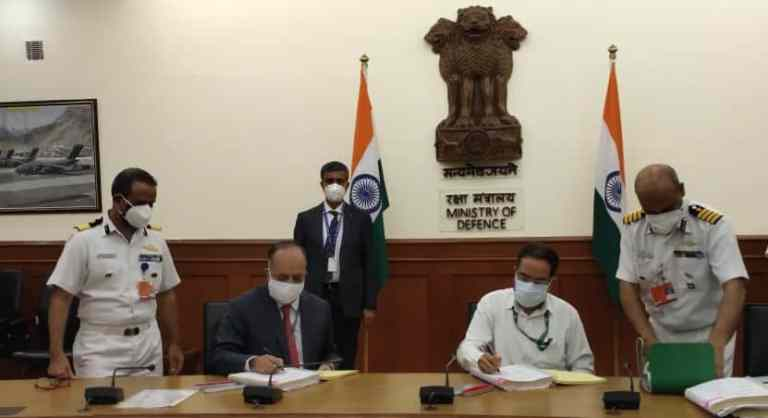 Ministry of Defence and Goa Shipyard Ltd signs contract for construction of two Pollution Control Vessels for Indian Coast Guard
