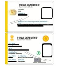 Unique Disability Identification Card (UDID) now acceptable as a Photo ID for registration on Co-WIN 2.0
