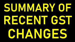 Recent updates in GST