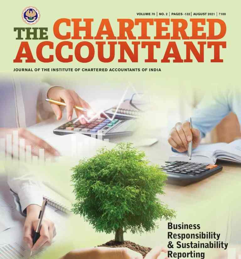 ICAI Members' e-Journal Chartered Accountant- August, 2021 Issue To Access the E-journal