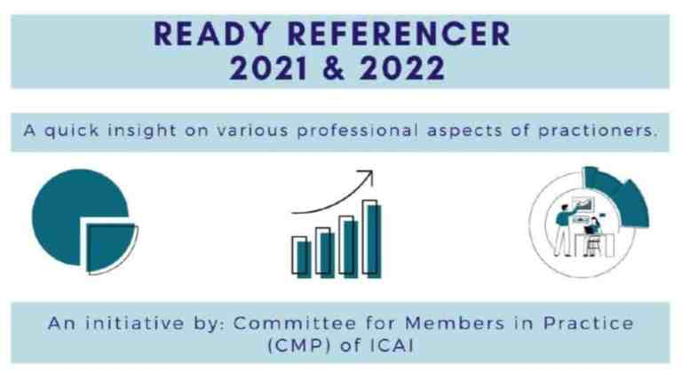 ICAI New Ready Referencer2021- A Quick Insight on Various Professional Aspects of Practitioner