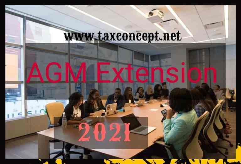 AGM Extension 2021- Key Provisions & Draft Application