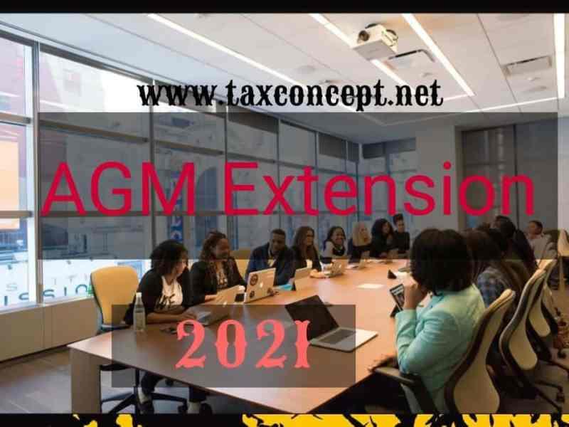 AGM Extension 2021- Key Provisions& Draft Application