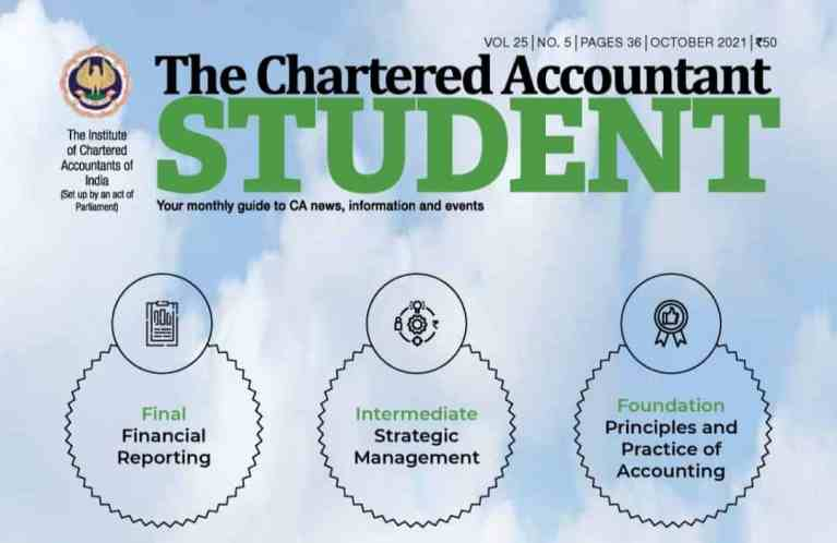 ICAI Students' Journal – The Chartered Accountant – October 2021