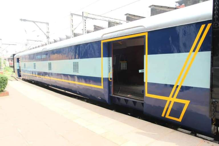 first time in Indian Railways, developed a prototype coach with side entry features for loading of automobiles