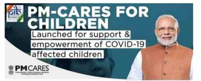 PM CARES For Children Scheme To Provide Monthly Stipend From Age Of 18 Years & Rs. 10 Lakh On Attaining 23 Years Of Age