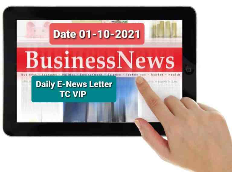 Business Concept's Daily E-News Letter- 01-10-2021 Only for TC VIP Users