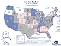 Monday Map: State Sales Tax Rates | Tax Foundation