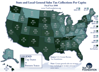 Monday Map: State and Local Sales Tax Collections | Tax ...