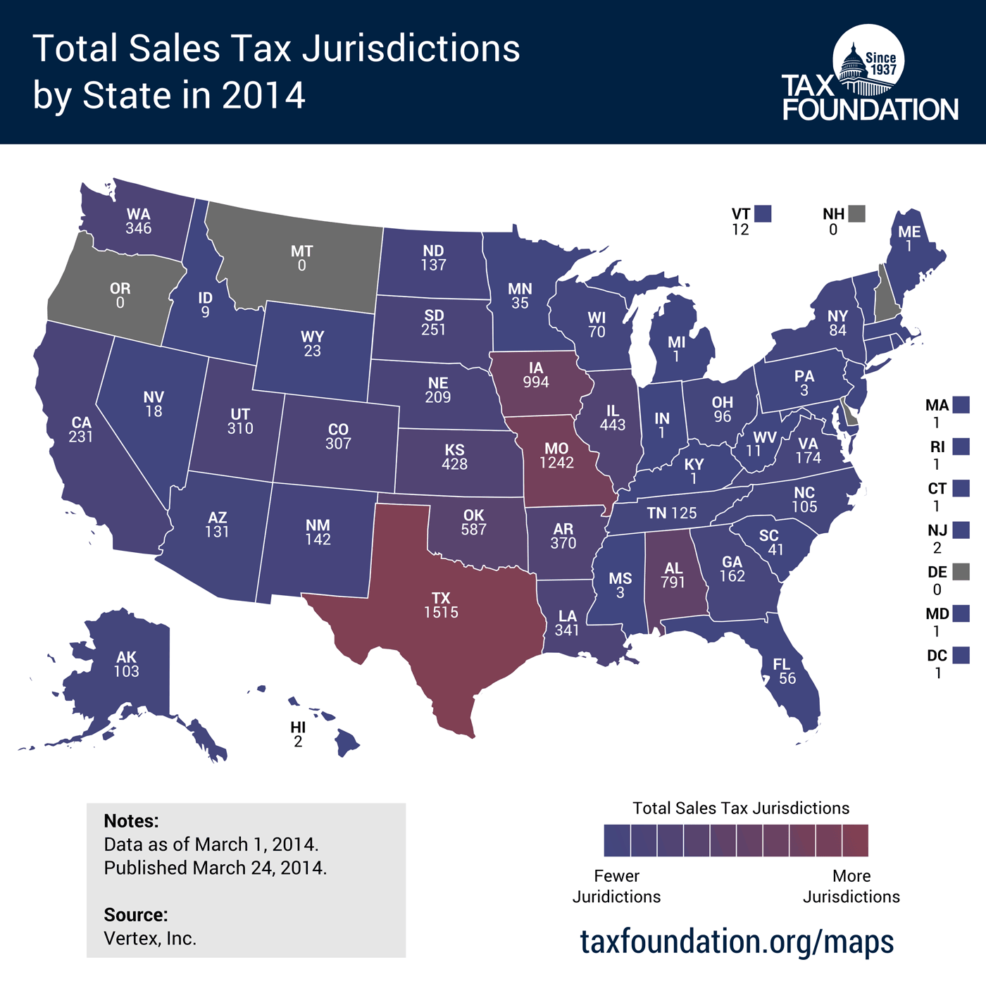 State Sales Tax Jurisdictions Approach 10 000