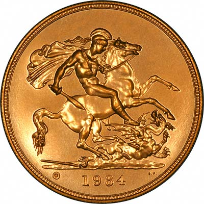 1984 Gold Five Pound (£5) Coin | Chards | Tax Free Gold