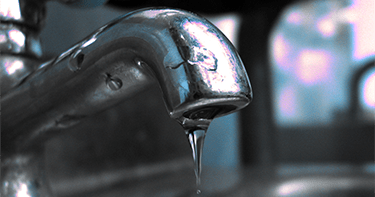faucet leaking water