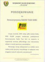WKS Śląsk Wrocław - podziękowania dla Radio Taxi Serc