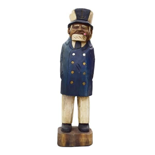 "41"" Sea Captain Wood Sculpture - Taxidermy Mounts"