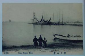 現役時代の旧堺灯台の写真