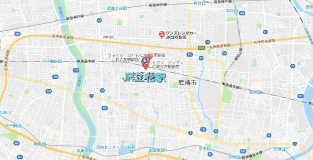 JR立花駅周辺の地図