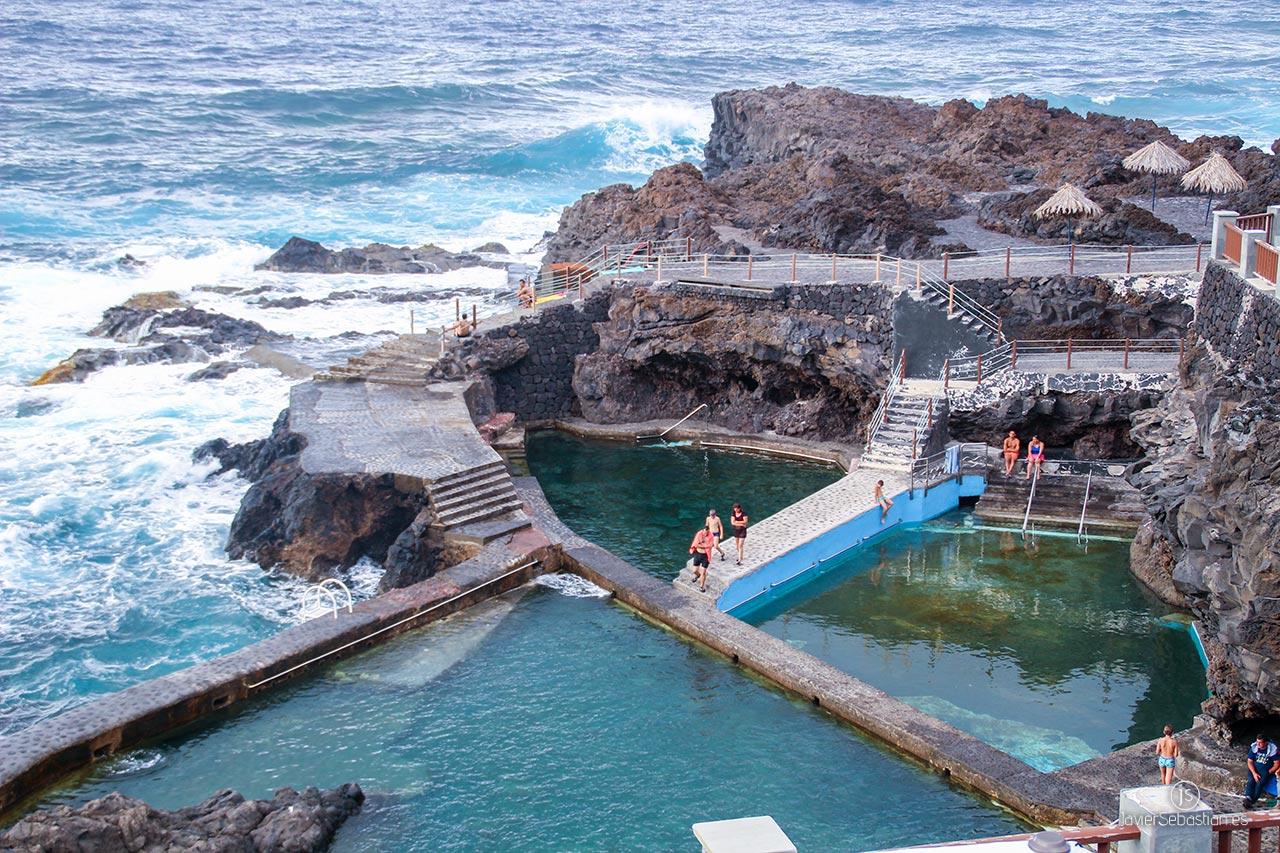 Typische Taxirouten aus dem Norden von La Palma. Von Los Sauces zu La Fajana natürlichen Pools · Taxi in La Palma.