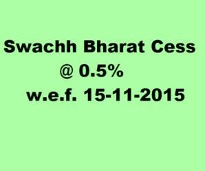 स्वच्छ भारत उपकर Swachh Bharat Cess