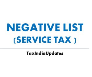 Service Tax Negative List Amended by Finance Act 2017