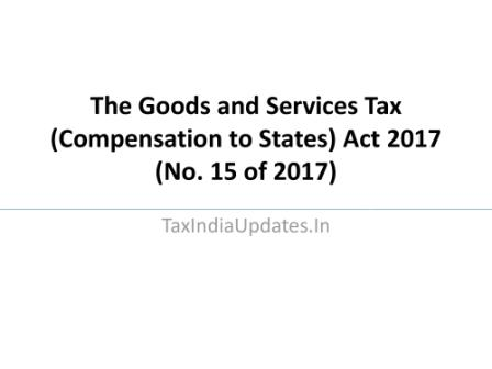 The Goods and Services Tax (Compensation to States) Act