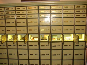 Bank Safe Deposit Boxes