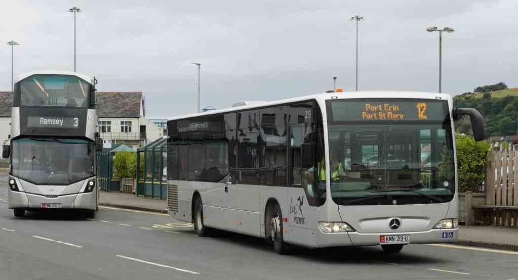 Bus Vannin Buses Leaving Lord Street