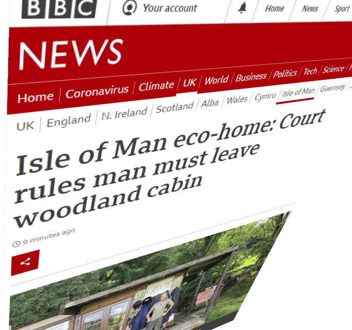 BBC Report on eviction of man who lives in the woods