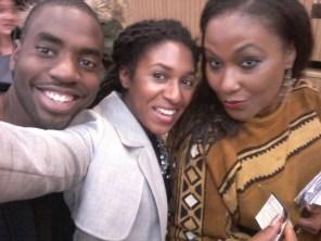 Ruth Noel, Daniel Jaime and Dr. Stacie N.C. Grant at Les Brown Live