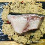 秋刀魚の糠漬け、糠多めにつけてお渡ししている糠の活用について