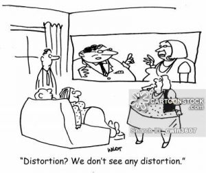 'Distortion? We don't see any distortion.'